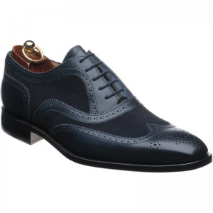 Herring Pimlico II in Navy Calf and Suede