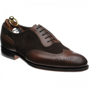 Henry II in Espresso Calf and Brown Suede
