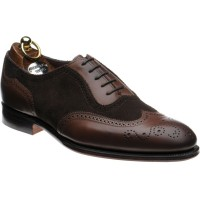 herring henry ii in espresso calf and brown suede