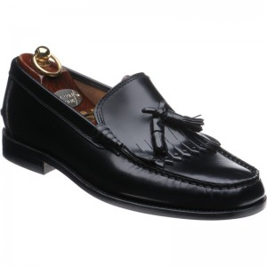 Herring Terni rubber-soled tasselled loafers in Black Polished