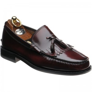 Herring Terni rubber-soled tasselled loafers in Burgundy Polished