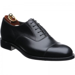 herring knightsbridge rubber in black calf