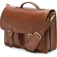 herring aldgate briefcase in chestnut calf