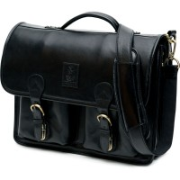 herring aldgate briefcase in black calf