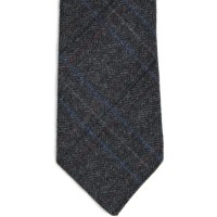 herring herring tweed tie in charcoal grey