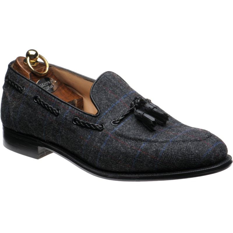 Exford tweed tasselled loafers