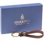 Herring Personalised Oak Bark Keyring