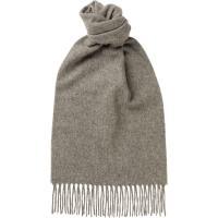 herring plain lambswool scarf in grey