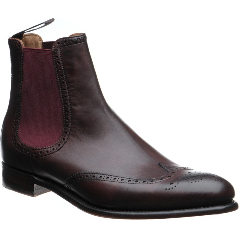 Herring Thatcher brogue Chelsea boots