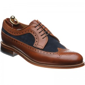 Herring Hampton in Chestnut Calf and Blue Suede