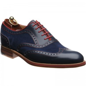 Herring Hathaway in Navy Calf and Suede
