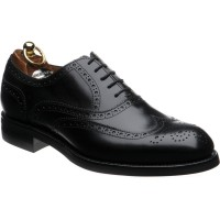 herring roborough rubber in black calf