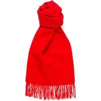 herring plain cashmere scarf in scarlet cashmere