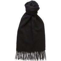 herring plain cashmere scarf in black cashmere