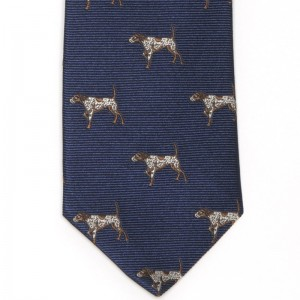 Gun Dog Tie (7797 222) in Navy Silk (2)