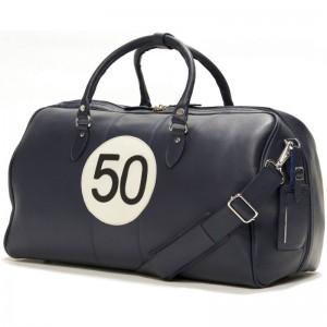Herring Heritage Racing Blue Bag in Blue Calf
