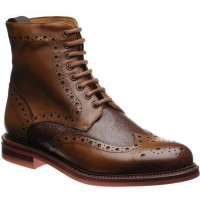Herring Redgrave two-tone rubber-soled brogue boots