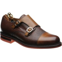 Redruth two-tone rubber-soled double monk shoes