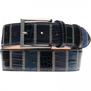 Charles Belt 40mm in Mid Blue