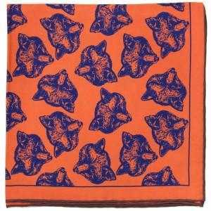 Herring Fox Design Pocket Square OLD in Orange (4)