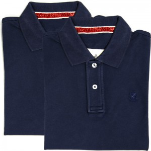 Herring Hurlingham Polo Shirt Double in Navy