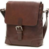 herring ealing small travel bag in mahogany calf