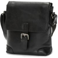 herring ealing small travel bag in black calf
