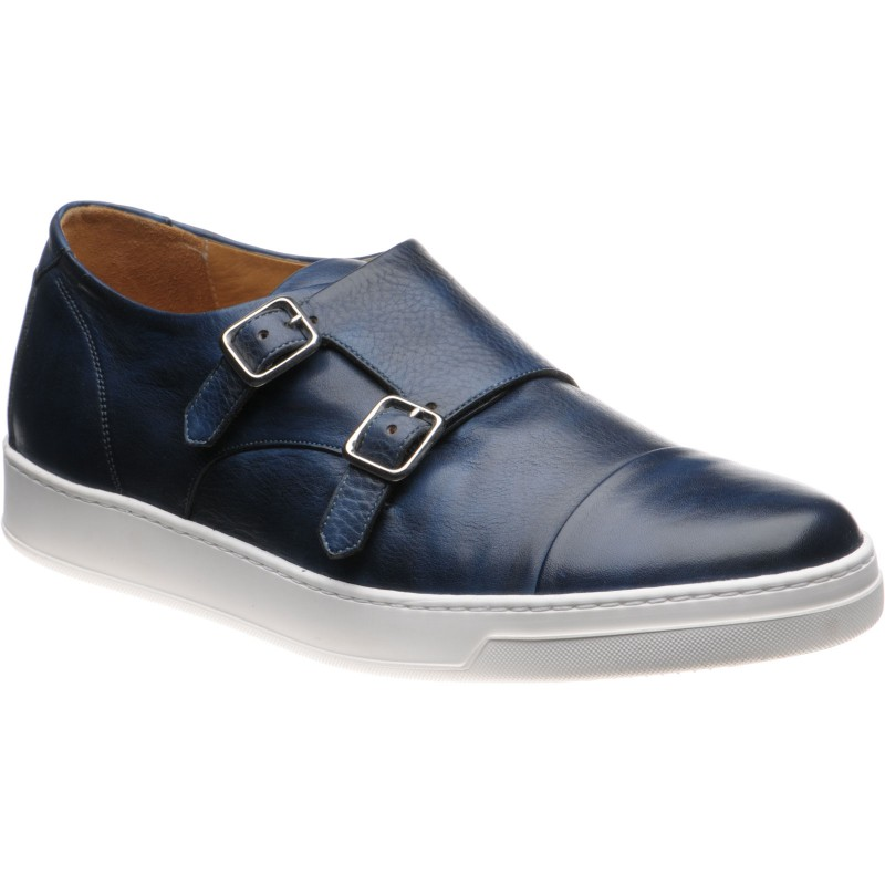 Derby rubber-soled double monk shoes