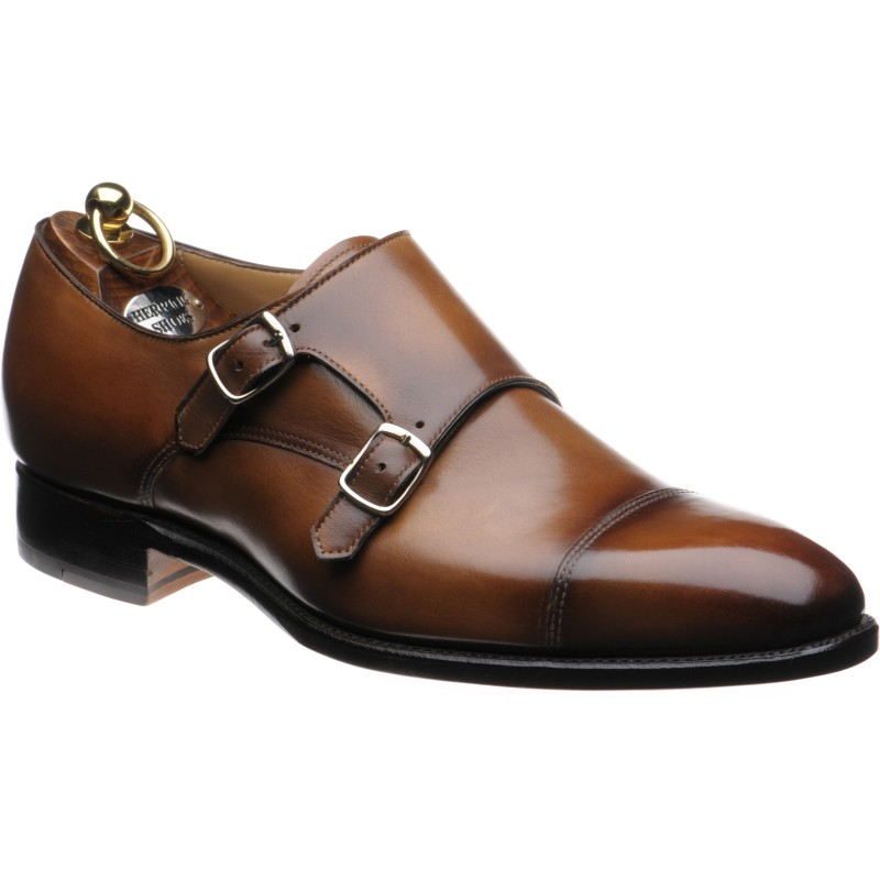 6bbb3fa562553 Herring shoes | Herring Classic | Hardy double monk shoes in Tobacco ...