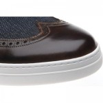 Denton two-tone rubber-soled brogues