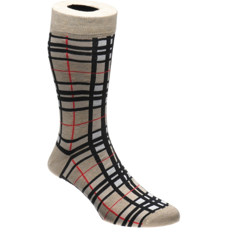 Camel Thompson Tartan Sock