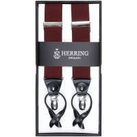herring plain 11771 braces in burgundy