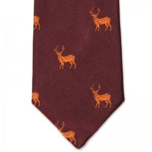 Stag Tie (7797 67) in Burgundy