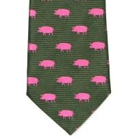 herring pig tie 7797 382 in green
