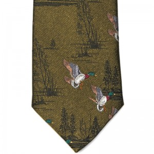 Duck and Grouse Tie (7797 317) in Green Silk