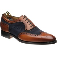 herring farnham in chestnut calf and navy suede