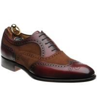 herring farnham in rosewood calf and brown suede