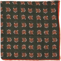 herring fox design pocket square in green 5
