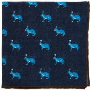 Hare Pocket Square (71475) in Navy (1)