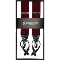 herring houndstooth 10731 braces in burgundy