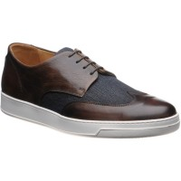 Denton II two-tone rubber-soled Derby shoes