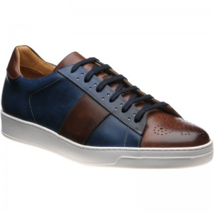 Lane in Navy and Brown Calf