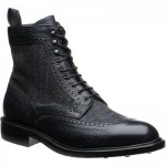 Matlock tweed rubber-soled boots