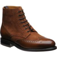 Herring Stonecliffe two-tone rubber-soled brogue boots
