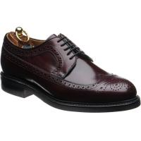 herring leconfield rubber in burgundy calf