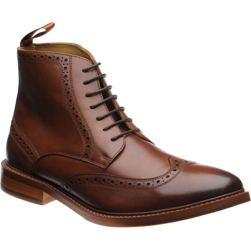 Limerick rubber-soled brogue boots