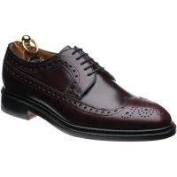 herring leconfield ii in burgundy calf