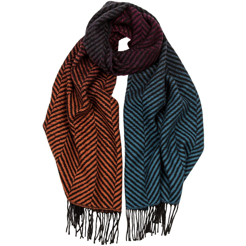 Herringbone Graduation Wool Scarf