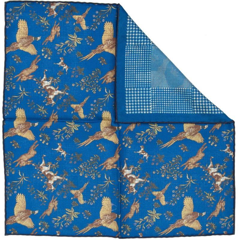 Reversible Sporting II Pocket Square (70333/4)