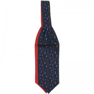Large Bean Cravat in Blue and Red Reverse